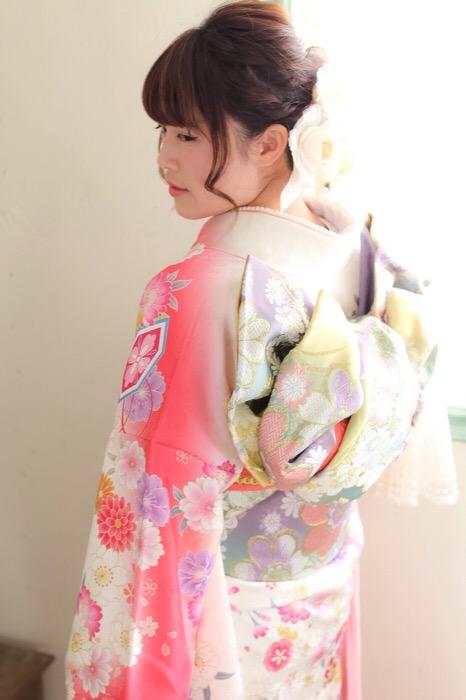 メモリアルな1日 【堺市 成人式 着物 着付け ヘアアレンジ】