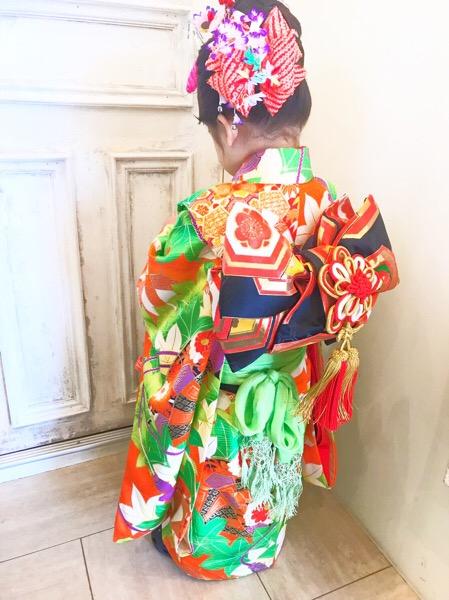 堺市の七五三 着付け便り お子様のヘアアレンジもお任せください