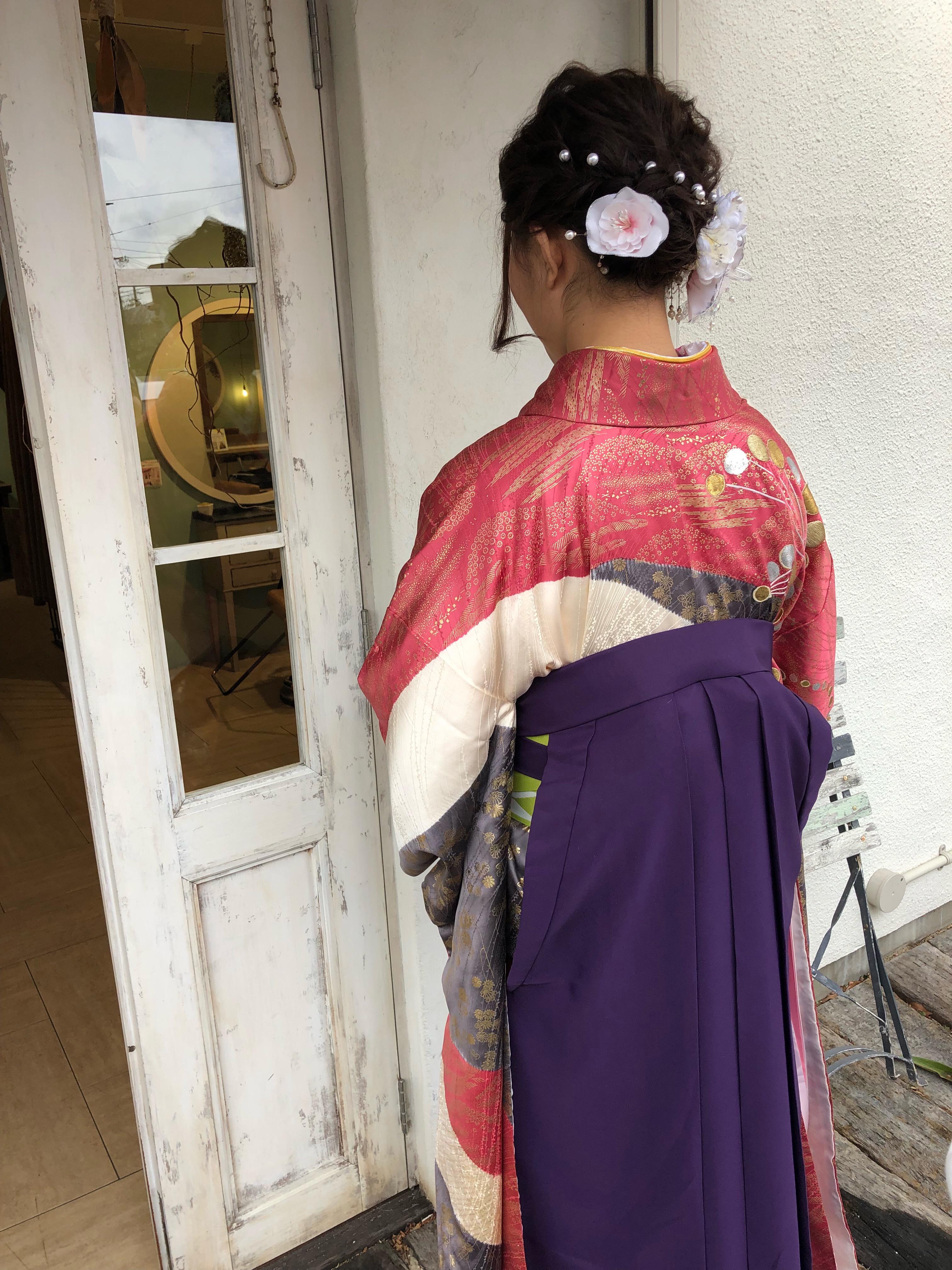 卒業式ラッシュ【堺市 初芝 美原区 卒業式 袴着付け】