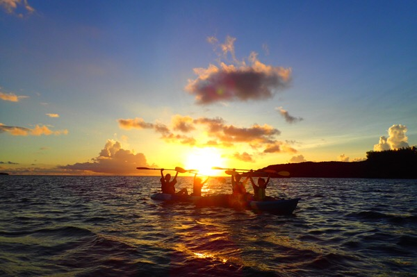 【沖縄サンセットシーカヤック 】夏休み小学生との沖縄旅行 おすすめコース その2